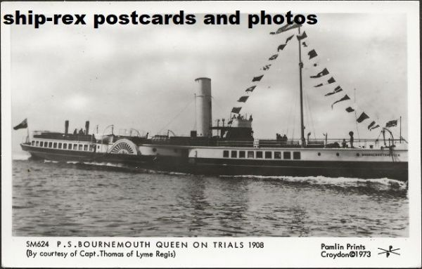 BOURNEMOUTH QUEEN (Red Funnel) postcard (b2)
